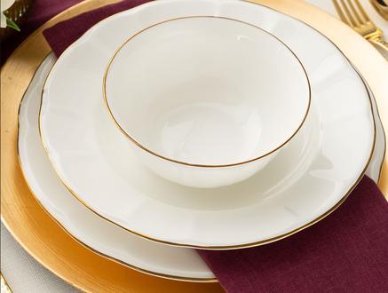 Fontanne 16 Parça Yemek Takımı - Altın