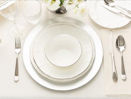 Fontanne 16 Parça Yemek Takımı - Platin