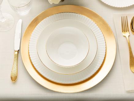 Amelie 16 Parça Yemek Takımı - Gold