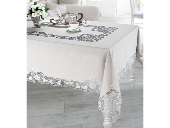 Flori Masa Örtüsü - Bej