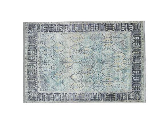 Mathilde Shinny Effect İpeksi Kadife Halı - Indigo 80x150 cm