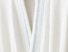 Renier Kimono Erkek Bornoz Seti - Beyaz / Mavi