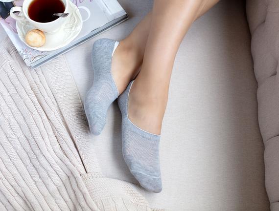 2'li Daily Kadın Babet Çorap - Gri
