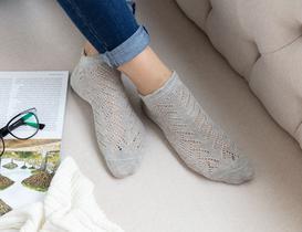 File Patik Kadın Çorabı - Gri