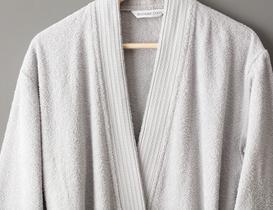 Ryella Kimono Unisex Bornoz - Gri