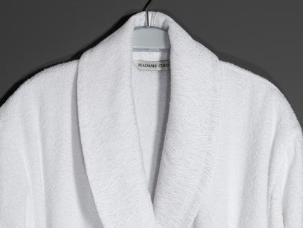 Kerman Şalyaka Lurexli Kadın Bornoz Seti - Beyaz/Gri