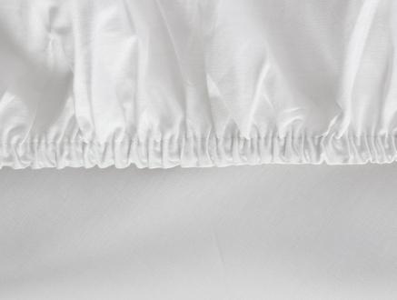 Manon Ranforce Çift Kişilik Lastikli Çarşaf - Beyaz
