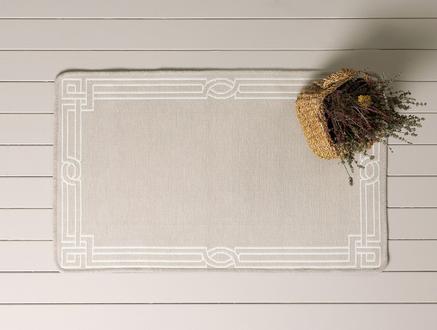 Egebella Çift Taraflı Şönil Kilim - Taş - 60x100 cm