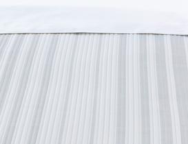 Drury Çift Kişilik Yatak Örtüsü - Beyaz / Gri