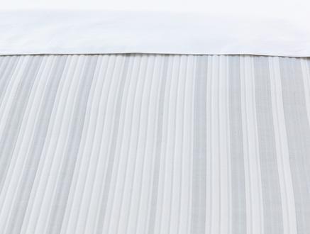 Drury Tek Kişilik Yatak Örtüsü - Beyaz / Gri