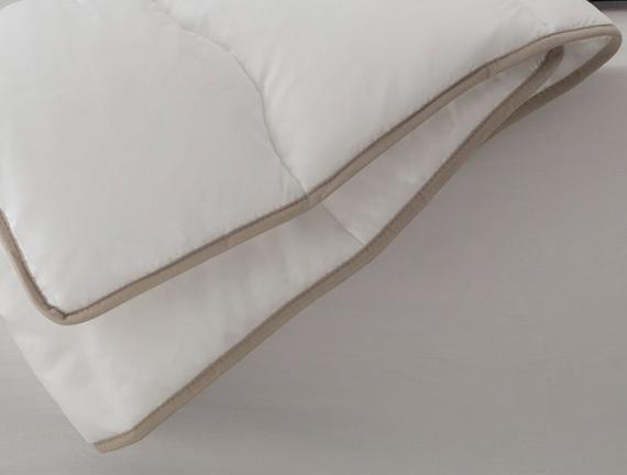 Aloe Vera Çift Kişilik Yorgan - Beyaz / Toprak