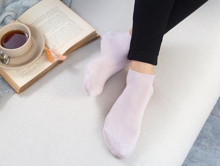 Leaf  Patik Çorap - Açık Mürdüm
