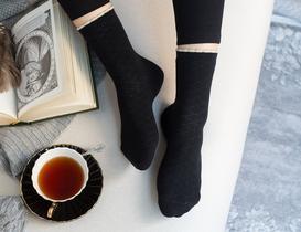 Evelia Kadın Soket Çorap - Siyah
