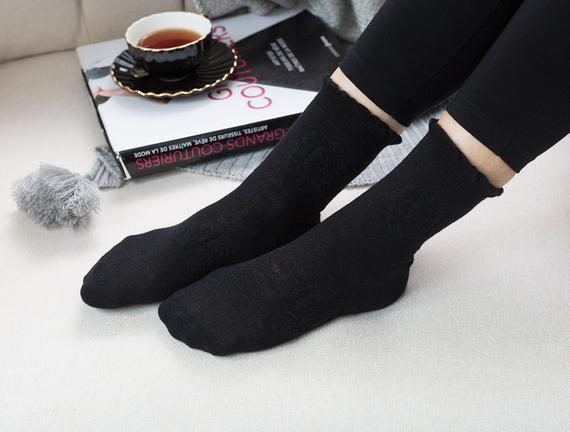 Bord Kadın Soket Çorap - Siyah