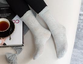 Bord Kadın Soket Çorap - Gri