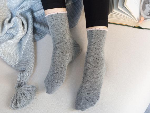 Evelia Kadın Soket Çorap - Gri