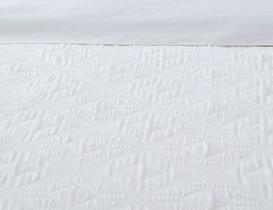 Iven King Size Yatak Örtüsü - Beyaz