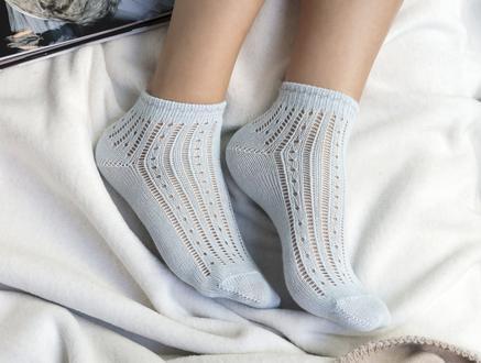 Souffle Patik Çorap - Mavi