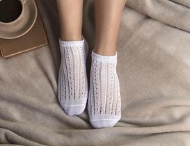 Souffle Patik Çorap - Beyaz