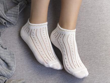Souffle Patik Çorap - Ekru