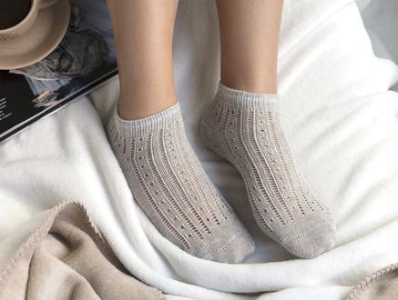 Souffle Patik Çorap - Gri