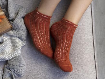 Souffle Patik Çorap - Kiremit