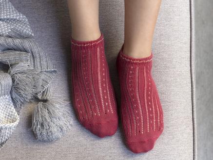 Souffle Patik Çorap - Gül Kurusu
