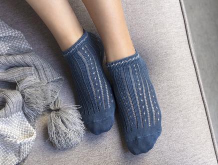 Souffle Patik Çorap - Koyu Mavi