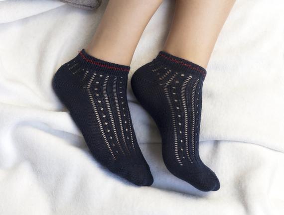 Souffle Patik Çorap - Lacivert