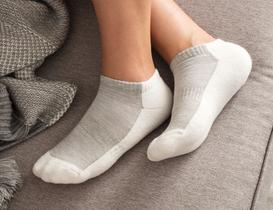 Sports Kadın Patik Çorap - Gri
