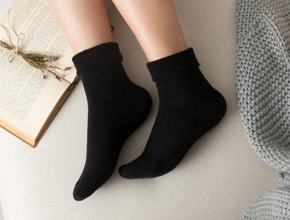 Demeka Kadın Soket Çorap - Siyah