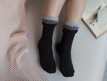 Fleur Kadın Soket Çorap - Siyah