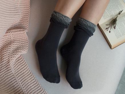 Fleur Kadın Soket Çorap - Antrasit