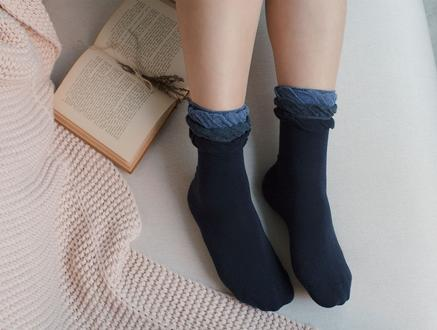 Fleur Kadın Soket Çorap - Lacivert