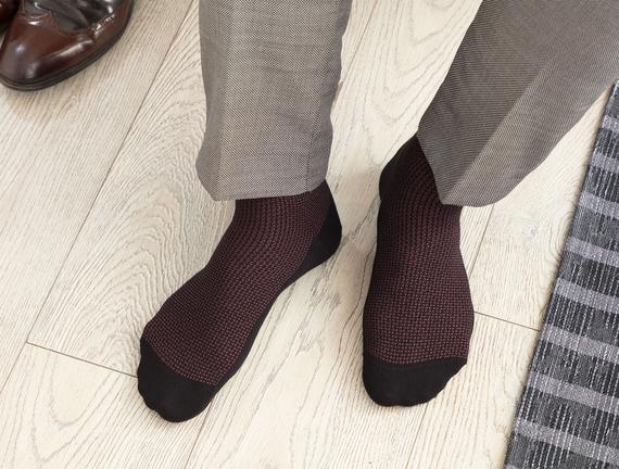 Dace Bambu Erkek Soket Çorap - Siyah