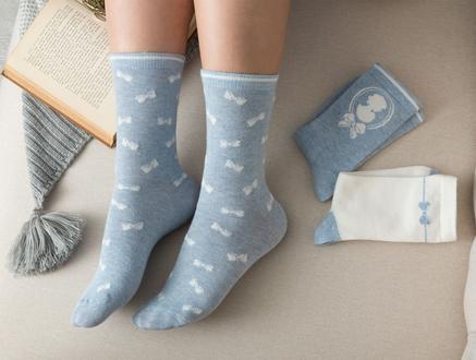 Maison Kadın 3'lü Soket Çorap - Mavi