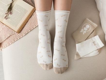 Maison Kadın 3'lü Soket Çorap - Bej