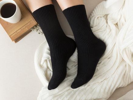 Tricot Kadın Soket Çorap - Siyah