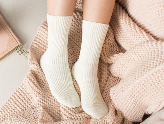 Tricot Kadın Soket Çorap - Ekru