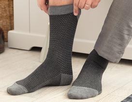 Charante Bambu Erkek Soket Çorap - Gri