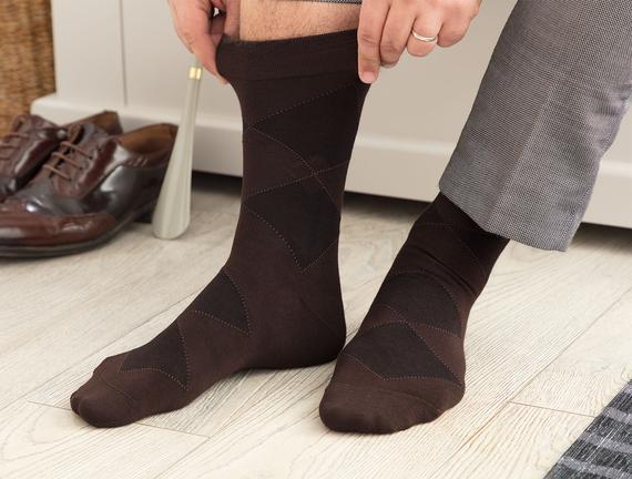Carlo Erkek Soket Çorap - Kahverengi