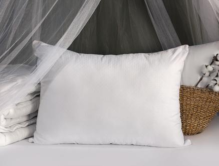 Carel Bambu Yastık-Beyaz