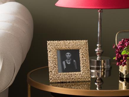 Daisy Fotoğraf Çerçevesi - Gold