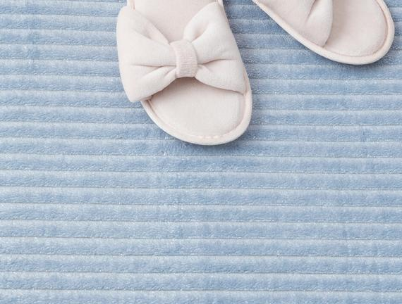 Shiny Flanel Banyo Paspası- Mavi