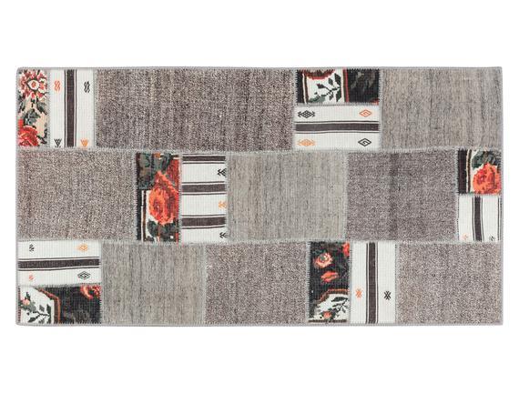 L'amour Dijital Baskılı - Gri 80x150 cm