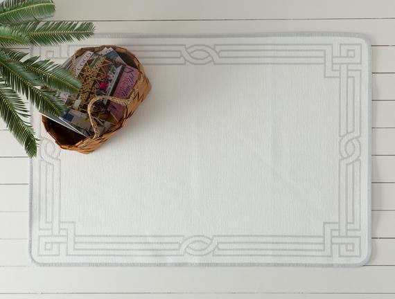 Egebella Çift Taraflı Şönil Kilim - Gri - 80x120 cm