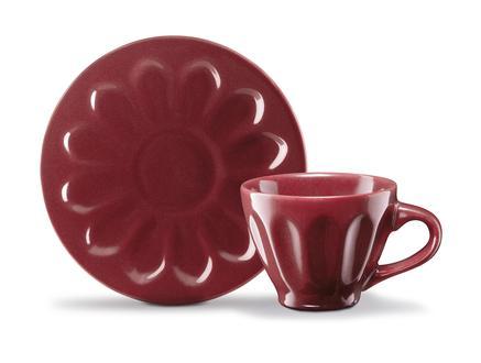 Leeroy 2'li Kahve Fincan Takımı - Carmen Kırmızı