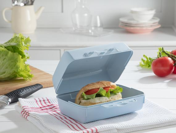 Yvonna Geniş Lunch Box - Soft Mavi