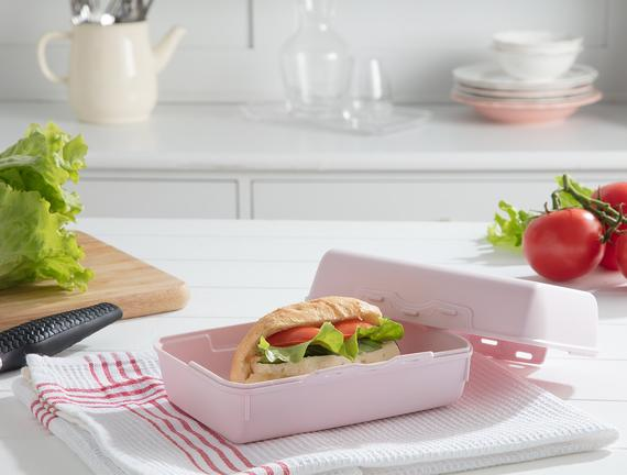Yvonna Geniş Lunch Box - Soft Pudra