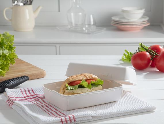 Yvonna Geniş Lunch Box - Soft Ekru